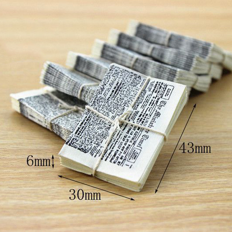 Mini Magazines Books DIY Dollhouse Miniature 1:12 Newspaper Dollhouse Furniture Toys Magazine Model Toys Doll House Accessories