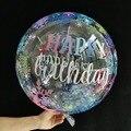 20''TPU Transparent Balloon Bobble With Happy Birthday Helium Inflatable Bobo Balloon Wedding Birthday Baby Shower Decor Globos