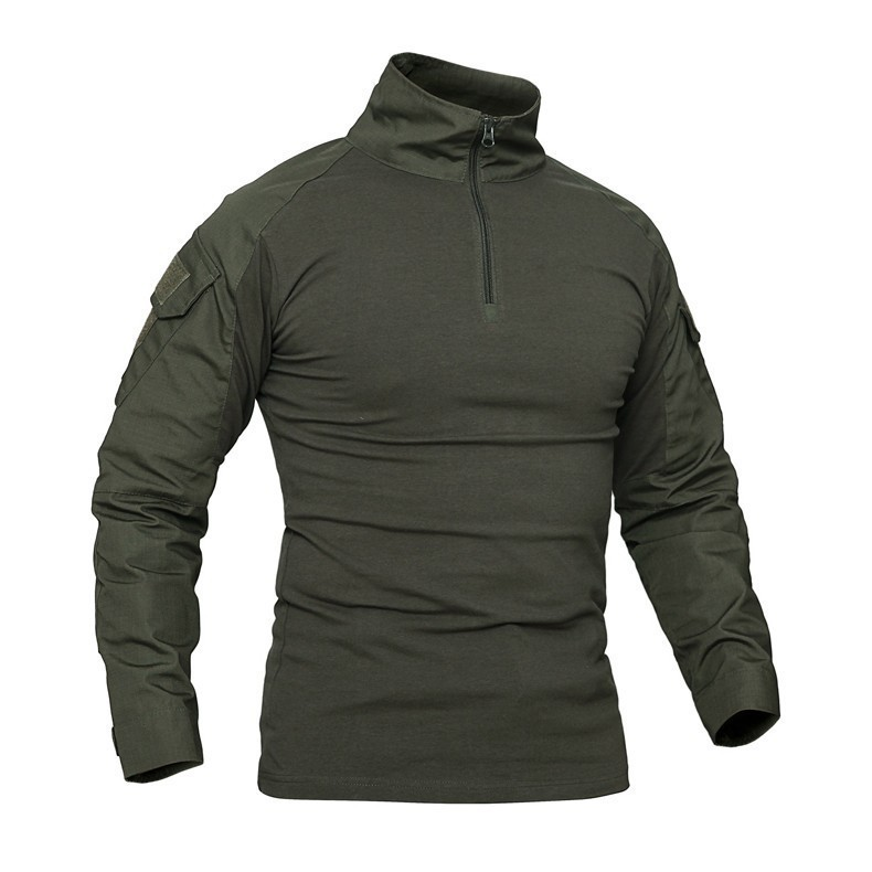 Hb938ddf181664468b0e0aac72737682f6 - Men Outdoor Tactical Military Hiking T-Shirts Male Army Camouflage Long Sleeve Sports Shirt Breathable Hunting Fishing Clothes