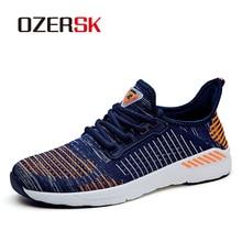 OZERSK جديد الخريف أحذية رياضية الرجال أحذية مشي مريحة Flywire أحذية للجنسين أحذية سلة Zapatillas Hombre Deportiva
