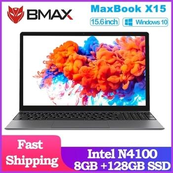 BMAX X15 Laptop 15.6 inch Intel Gemini Lake N4100 Intel UHD Graphics 600 8GB LPDDR4 RAM 128GB SSD ROM Notebook X15