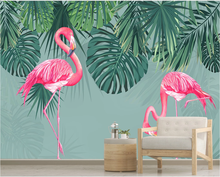 Flamingo background wall of tropical rainforest in Northern Europe and Southeast Asia-Professional customized wallpaper rn kearney kearney politics and modernization in south and southeast asia