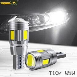 Xukey 2pcs 3W 12V T10 White Car ERROR FREE Led Lights W5W 501 168 194 Clearance Parking Lamp Auto Wedge Signal Bulbs 6000K HID