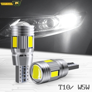 Xukey 2pcs 3W 12V T10 White Car ERROR FREE Led Lights W5W 501 168 194 Clearance Parking Lamp Auto Wedge Signal Bulbs 6000K HID