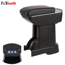 Armrest-Box Centre-Console Car-Styling Suzuki Alto for Usb-Charging Led-Light Rotatable