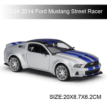 цена на Maisto 1:24 diecast Car 2014 Ford Mustang Street Racer Diecast Car Model Toy Vehicle Car Model Maisto Models Kids Car