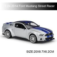 Maisto 1:24 diecast Car 2014 Ford Mustang Street Racer Diecast Car Model Toy Vehicle Car Model Maisto Models Kids Car