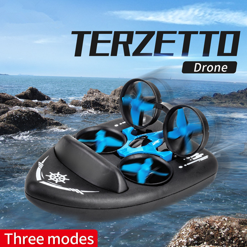 Jjrc H36 Upgrade Sea, And Air Amphibious Unmanned Aerial Vehicle H36f Remote Control Hovercraft Three-in-One Quadcopter