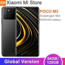 POCO-teléfono inteligente M3 versión Global, 4GB, 64GB/128GB, batería de 6000mAh, Snapdragon 662, ocho núcleos, cámara de 48MP, pantalla de gota de punto FHD de 6,53 pulgadas