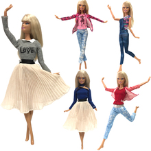 NK Hot Sale 1x Doll Dress For Barbie Doll Fashion Skirt Dollhouse Clothes DIY Accessories Girls' Gift Baby Toys G1 JJ nk one pcs fashion doll head hair diy accessories for barbie kurhn doll best girl gift child diy toys
