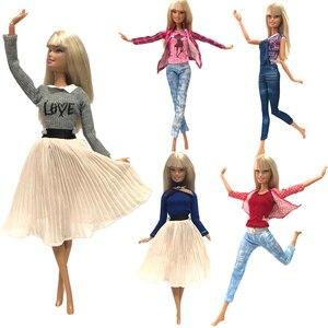 Image 2 - Nk ホット販売 1x 人形バービー人形ファッションスカートドールハウス服 diy アクセサリー女子ギフトベビーおもちゃ G1 jj