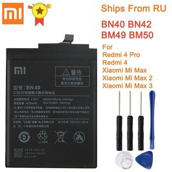 Batterie de remplacement d'origine pour Xiaomi Redmi 4 Pro Prime 3G RAM 32G ROM édition Redrice 4 Hongmi 4 BN40 batterie authentique 4100 mAh