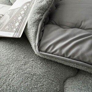 Image 2 - Svetanya edredón cálido grueso para cama, relleno de Cachemira de cordero Artificial, manta