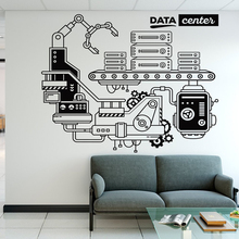 Office Data Center Vinyl Wall Sticker Removeable Decor Art Decal Study Room Decoration DIY Decals Mural Y73
