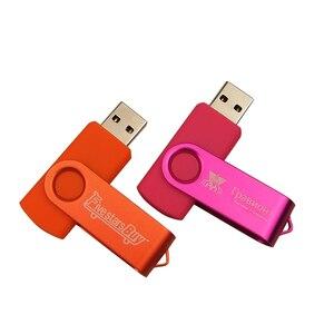 Custom Logo Metal Pen Drive 4GB 8GB 16GB 32GB usb Flash Drives usb stick Memory Stick High Speed Pendrive 64GB USB 2.0 U Disk