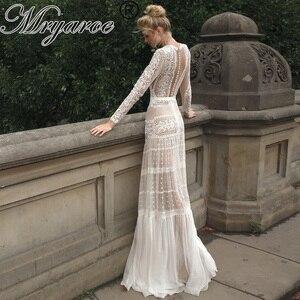 Image 1 - Mryarce שיק שמלות כלה ייחודי תחרה מקסים פולקה נקודות ארוך שרוול כלה בוהמית כלה שמלות