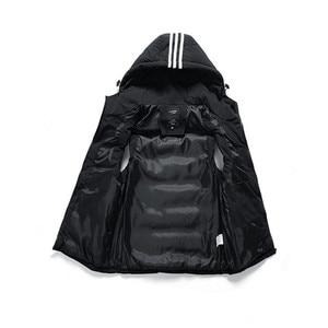Image 5 - Sleeveless Hoodie Men Vest Winter Gilet Uomo Inverno Jacket 6XL 7XL 8XL Mens Warm Casual Plus Size Mannen Black Red Waistcoat