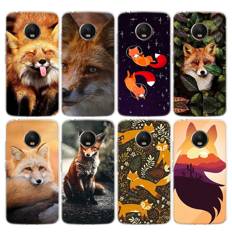 Anime Fox Funny Foxs Phone Case For Motorola Moto G8 G7 G6 G5 G5S G4 E6 E5 E4 Plus Power Play EU One Action Macro Vision Cover