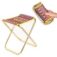 Acampamento ao ar livre fezes de pesca cadeira dobrável caminhadas piquenique praia assento de viagem com bolsa|Cadeiras de pesca| |  -