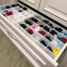 Drawer Dividers Makeup Drawer-Divider-Organizers Household-Storage Adjustable Grid DIY