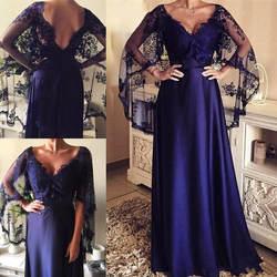 Vestido de madrinha атласное платье для матери невесты 2019 плюс размер платье для матери с кружевным плащом abito sposa свадебное платье для гостей