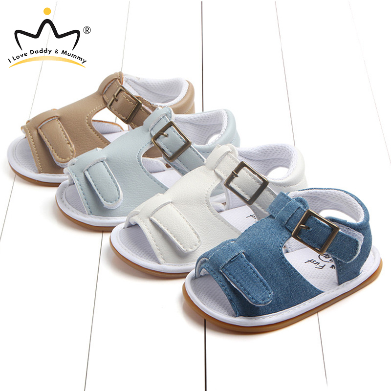 Summer New Soft Cotton Canvas Baby Sandals Anti Slip Rubber Sole Newborn Toddler Boy Girl Sandals Baby Shoes