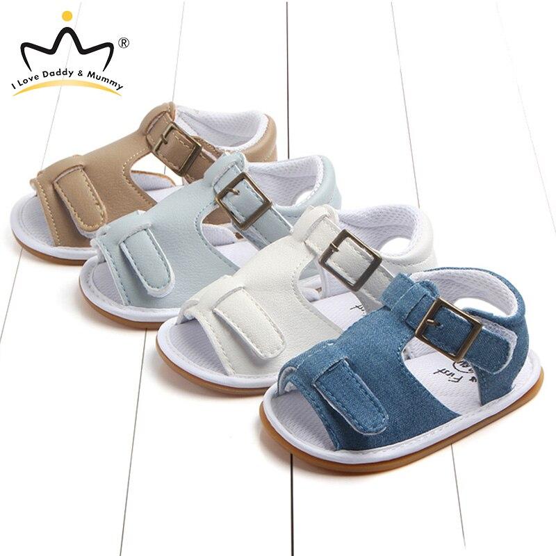 Summer New Soft Cotton Canvas Baby Sandals Anti Slip Rubber Sole Newborn Toddler Boy Girl Sandals Baby Shoes