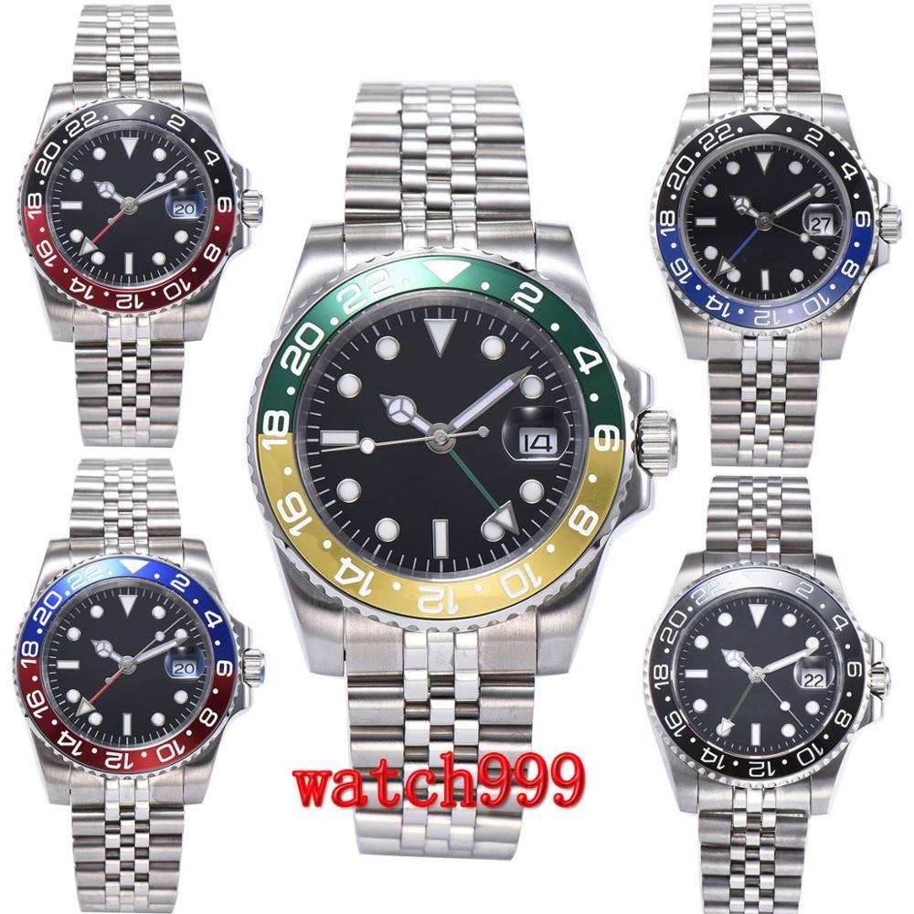 40 mm Sterile Dial Spin bezel date Luminous men's watches jubilee strap fashion men's automatic mechanical watch