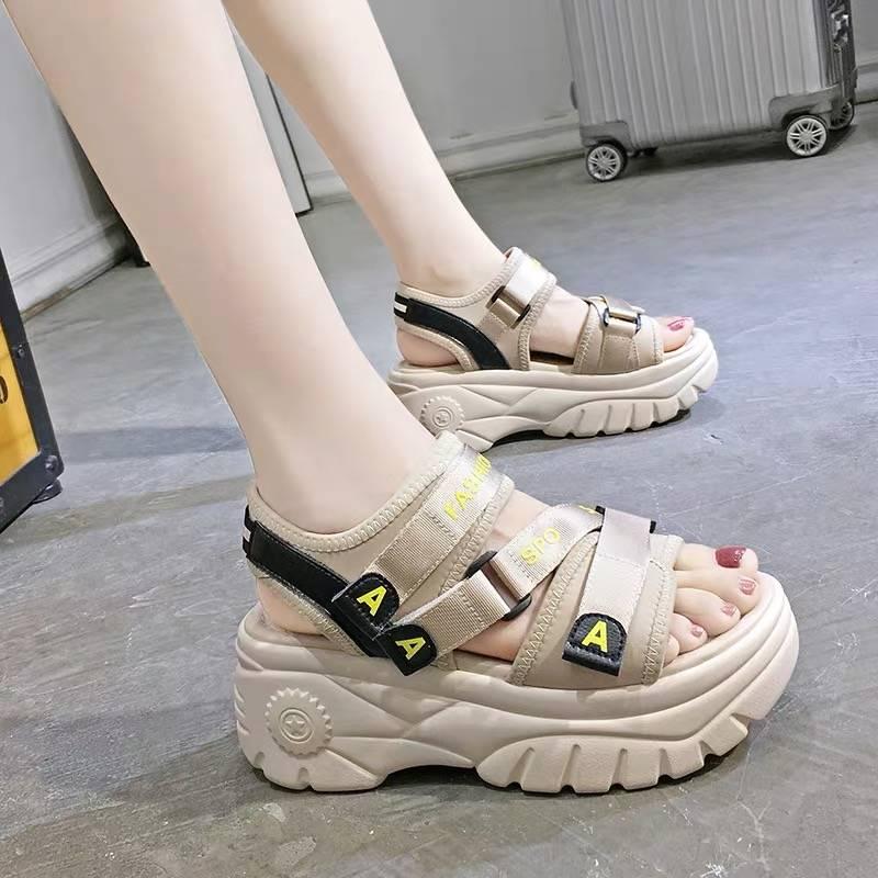 Lucyever Thick Sole Women Wedges Sandals High Platform Comfort Woman Sandalias Mujer 2020 Hook&loop Summer Casual Footwear