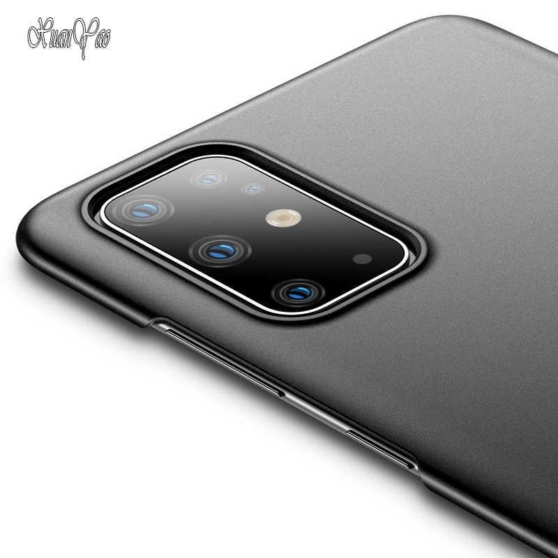 XUANYAO pokrywa dla Samsung Galaxy S20 Ultra S20 S10 5G S9 S8 S7 S6 krawędzi przypadku matowy Coque dla Samsung Galaxy S8 S9 S10 S20 Plus S7