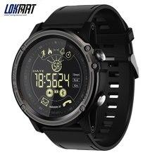 LOKMAT erkekler spor akıllı saat 5ATM su geçirmez Bluetooth pedometre mesaj hatırlatma dijital saat ios için akıllı saat ve android