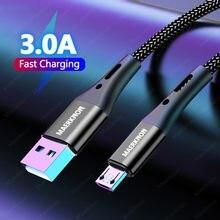 3a microusb cabos 5a tipo c cabo de carregamento rápido data para huawei p40 xiaomi redmi carregador do telefone móvel android micro cabo usbc