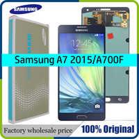 "Super AMOLED 5,5 ""LCD Für SAMSUNG Galaxy A700 A7 2015 A700H A700F A700S A700K LCD Display Mit Touch Screen digitizer Montage"