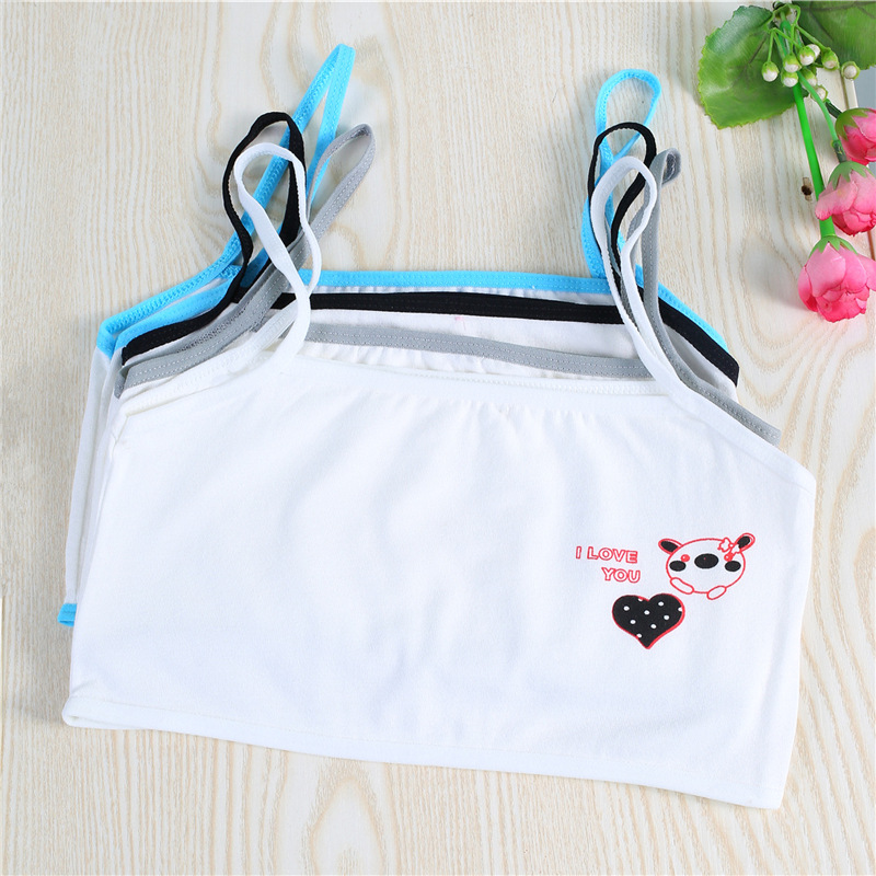 Teen Bra For A Girl Cotton Underwear Teenage Girls Clothing Top For 5-10Y Children Topic Lingerie Girls Underwear Teenage