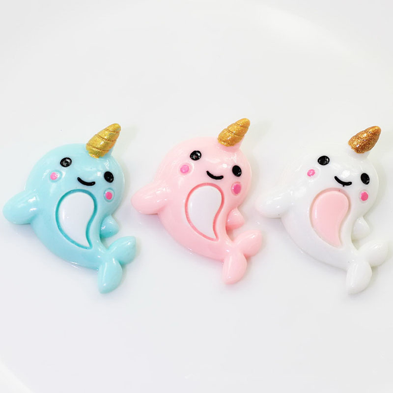 6Pcs Unicorn Dolphin Polymer Slime Charms Toy For Children Flatback Modeling Clay DIY Kit Accessories For Kids Plasticine