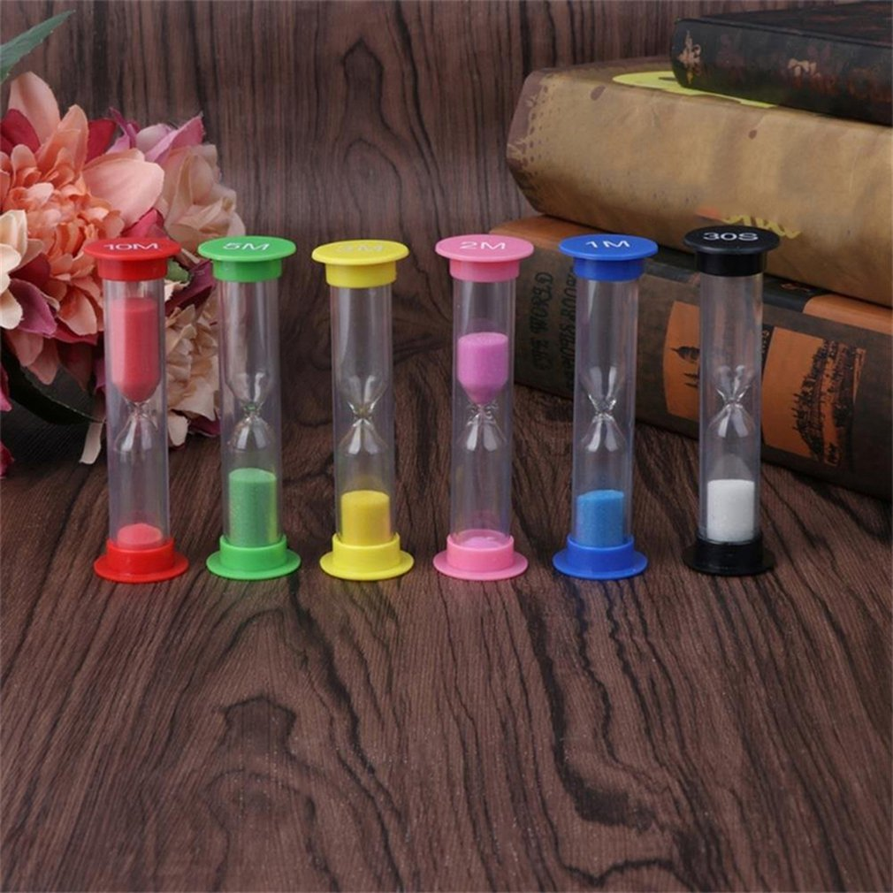 Toys Hourglass 5Pcs Kid 5 Colors Classroom Game Sand Clock Timer Montessori Sandglass Home Decor Toys For Children