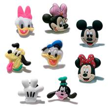 1PCS Mickey Minnie PVC Shoe Charms Accessories Fit for Shoes Bracelets Bands Croc JIBZ Shoe Buckles Ormaments as Kids Best Gift(China)
