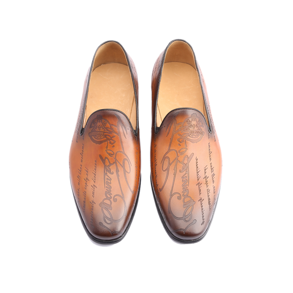 Image 4 - Leather Shoes Men Real Genuine Leather Custom Fashion Office Dress Wedding Luxury Brand Formal Party Loafer Mens Casual ShoesMens Casual Shoes   -