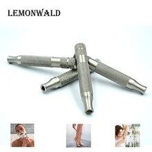 LEMONWALD manico per rasoio a doppio taglio, rasoio di sicurezza, manico in acciaio inossidabile