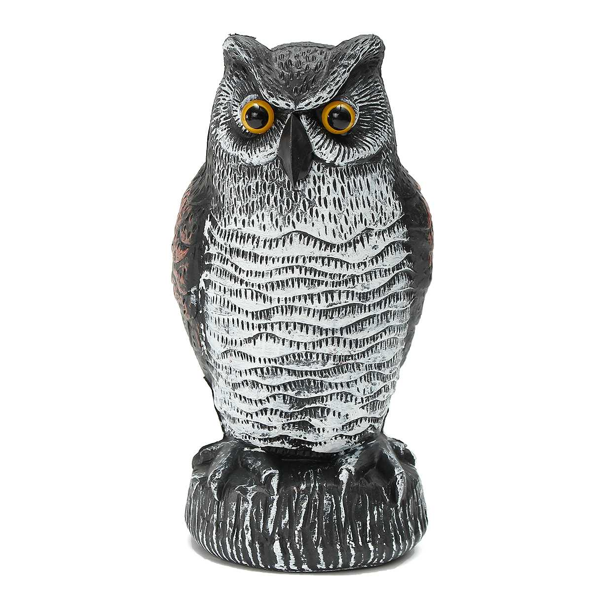Outdoor Fake Standing Owl Bird Hunting Bait Shooting Yard Decoy Traps Deterrent Repeller Garden Scarer Furnishings Blow Molding