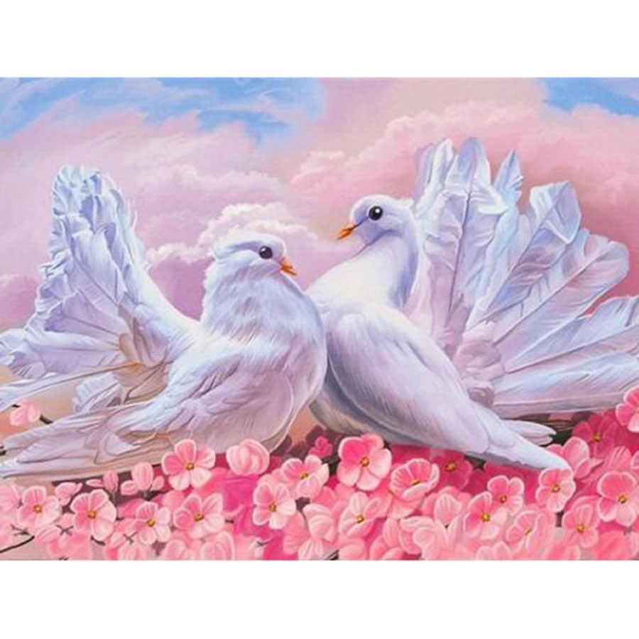 которыми открытки два голубя держит