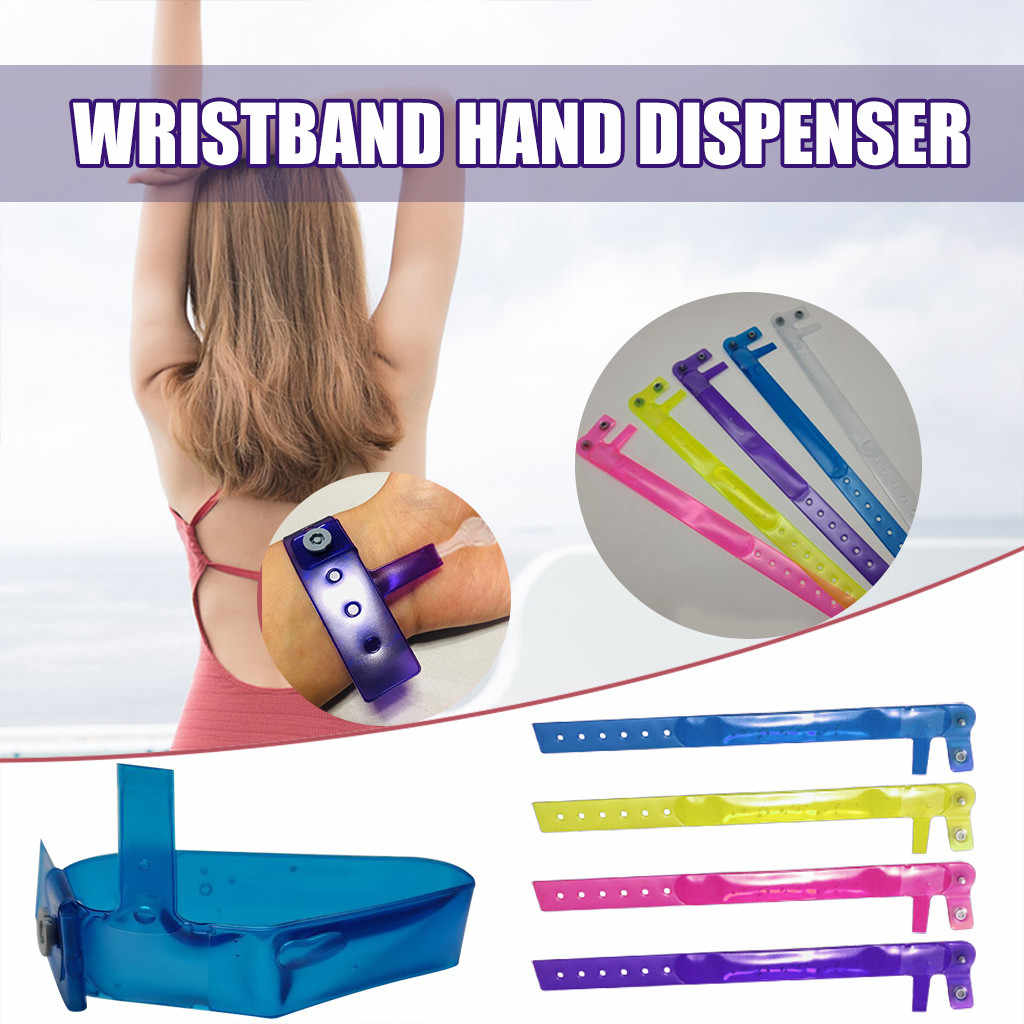 1Pc 8ML Silikon Gelang Tangan Dispenser Wearable Tangan Sanatizer Gelang Dispenser Dispenser Sabun Gelang Desinfectant