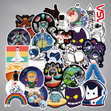 100PCS Stickers Outer Space Fashion Pattern Waterproof Skateboard On Motorcycle Laptop Book Guitar Car Pusheen