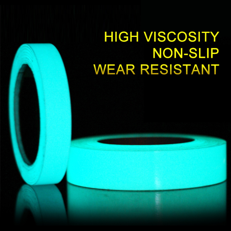 1pc Safety Warning Luminous Tape Self-adhesive Glow In The Dark Sticker Tapes DIY Night Reflective Tape Decal For Home Decor New