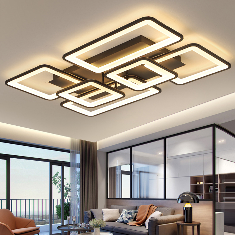 Led lustre moderno lustres de teto iluminação lustre para sala estar quarto cozinha com controle remoto luminárias