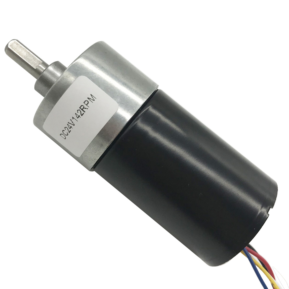 Long Life Brushless 12V 24V DC Geared Motor High Torque 35KG 5-1270RPM With Metal Gears Low Noise Reversed Signal Feedback