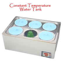 1PC Electric Heating Digital Display Temperature Water Bath Pan 6 Holes Stainless Steel Constant Temperature Water Tank Machine