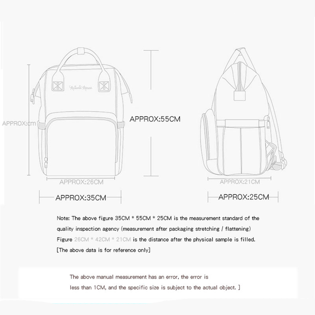 Disney Diaper Bag Backpack Bolsa Maternidade Waterproof Stroller Bag USB Baby Bottle Warmer Mickey Minnie Travel Mummy Backpack Bags Kids