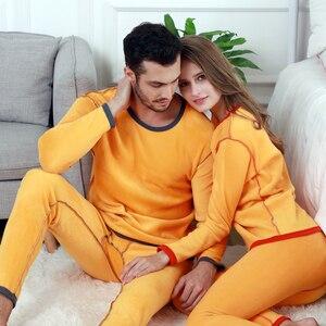 Image 3 - Perfering 2/Pcs Fluwelen Dikke Thermisch Ondergoed Set Voor Mannen Vrouw Warme Gelaagde Kleding Pyjama Set Thermische Lange Onderbroek hot Dry