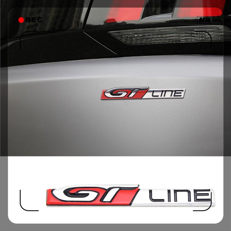 for Peugeot 208 308 508 3008 5008 GT Line Accessories Exterior Car Side Emblem Stickers Sticker Rear Trunk Decoration Trim